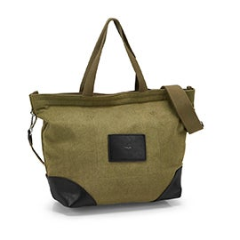 Co-Lab  Women's 6269 khaki/black 2 strap tote bag