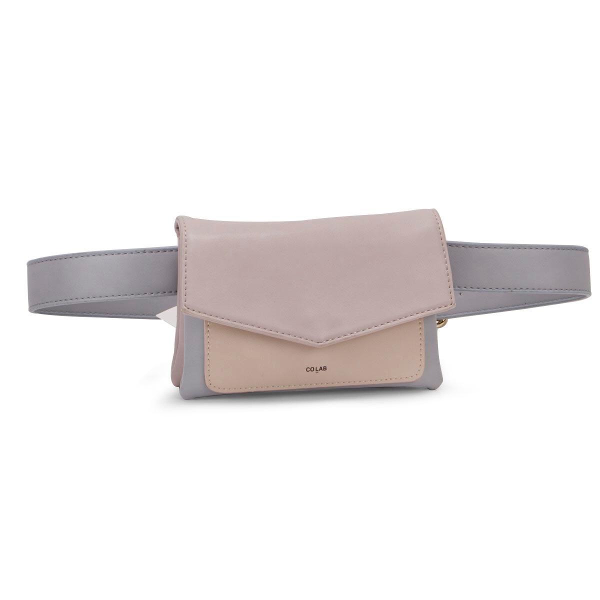 Lds pastel front flap fashion fanny pack