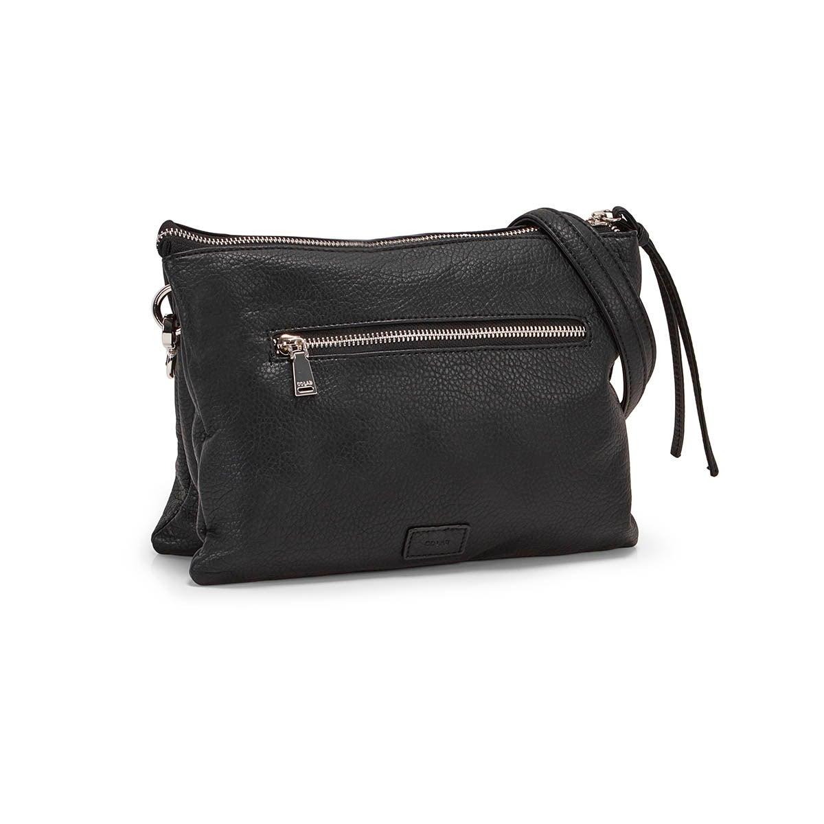 Lds black clutch crossbody bag