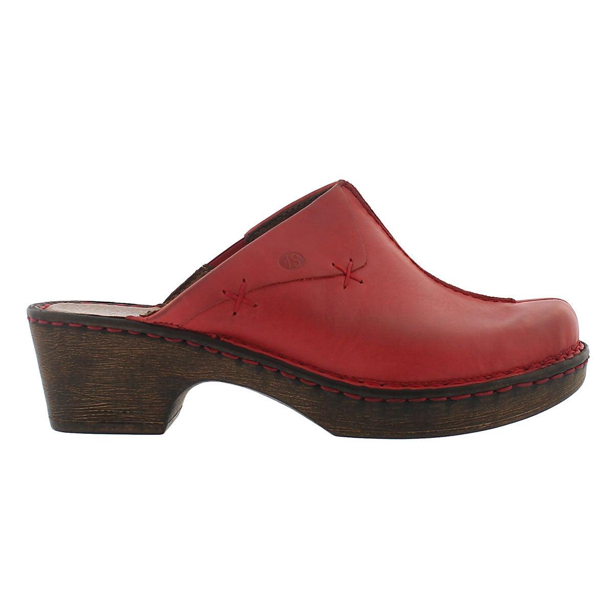 Lds Rebecca 13 red casual clog