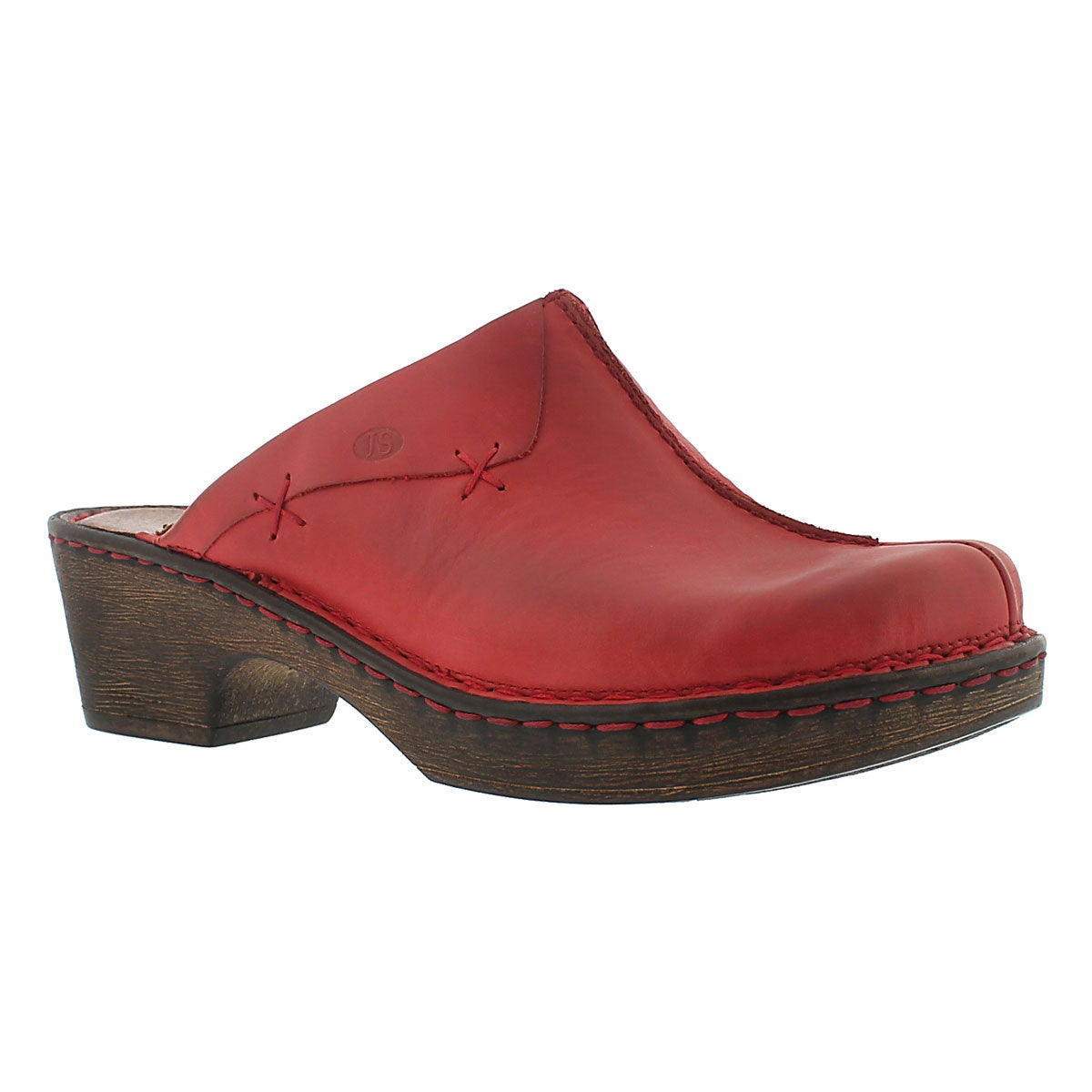 Women's REBECCA 13 red casual clogs