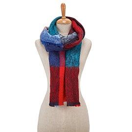 Lds Autumn Blocks Boucle navy scarf