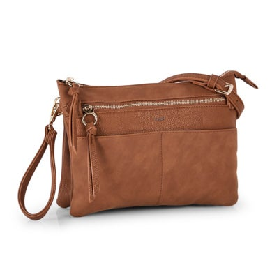 Co-Lab Women's 6317 cognac crossbody clutch