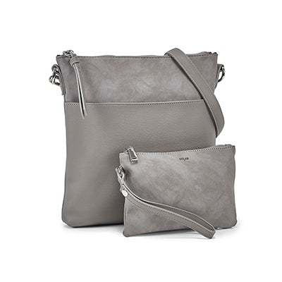Co-Lab Women's 6318 dove removable pouch crossbody bags