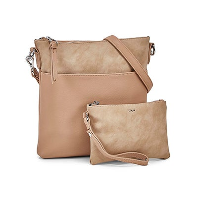 Co-Lab Women's 6318 earth removable pouch crossbody bags