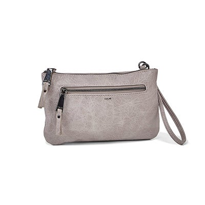 Co-Lab Women's 6324 grey cross body wristlet clutch