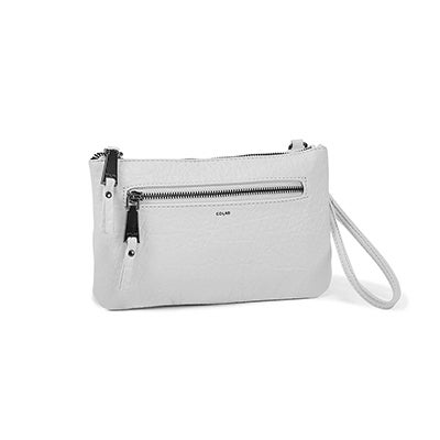 Co-Lab Women's 6324 white cross body wristlet clutch