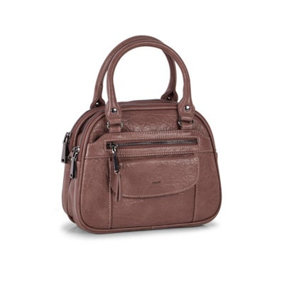 Co-Lab Women's 6325 mocha bowler crossbody bag