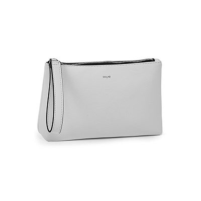 Co-Lab Women's 6341 white pebble crossbody belt bags