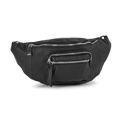 Lds Washed Vintage black fanny pack