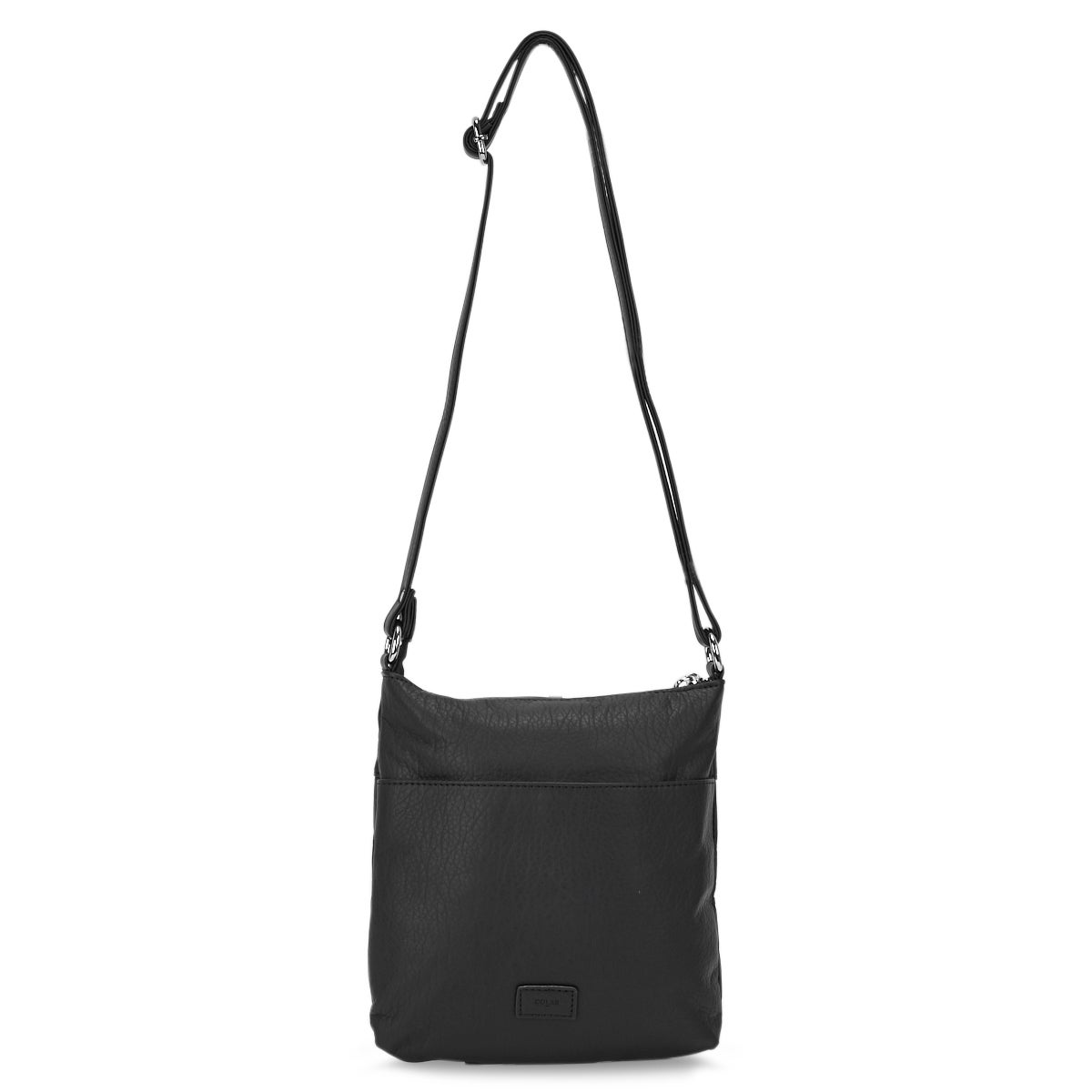 Lds Washed Vintage black flat crossbody