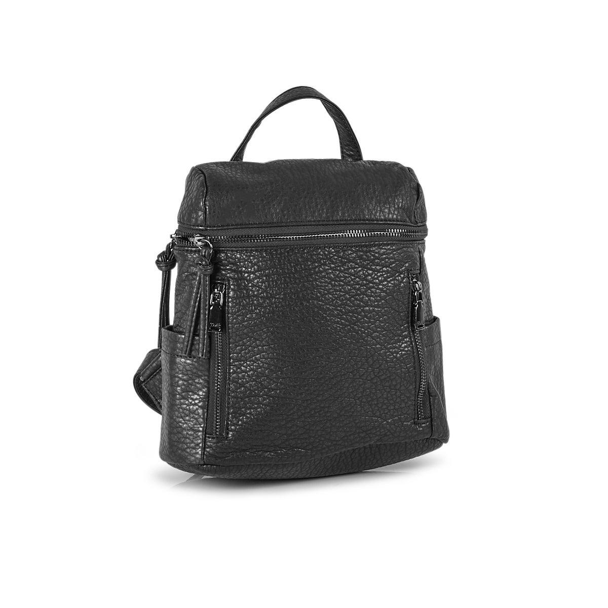 Mini sac à dos rétro délavé 6349 anthracite femmes