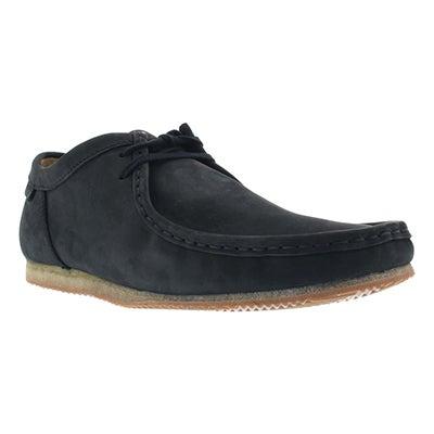 Clarks Men's WALLABEE RUN black nubuck casual shoes
