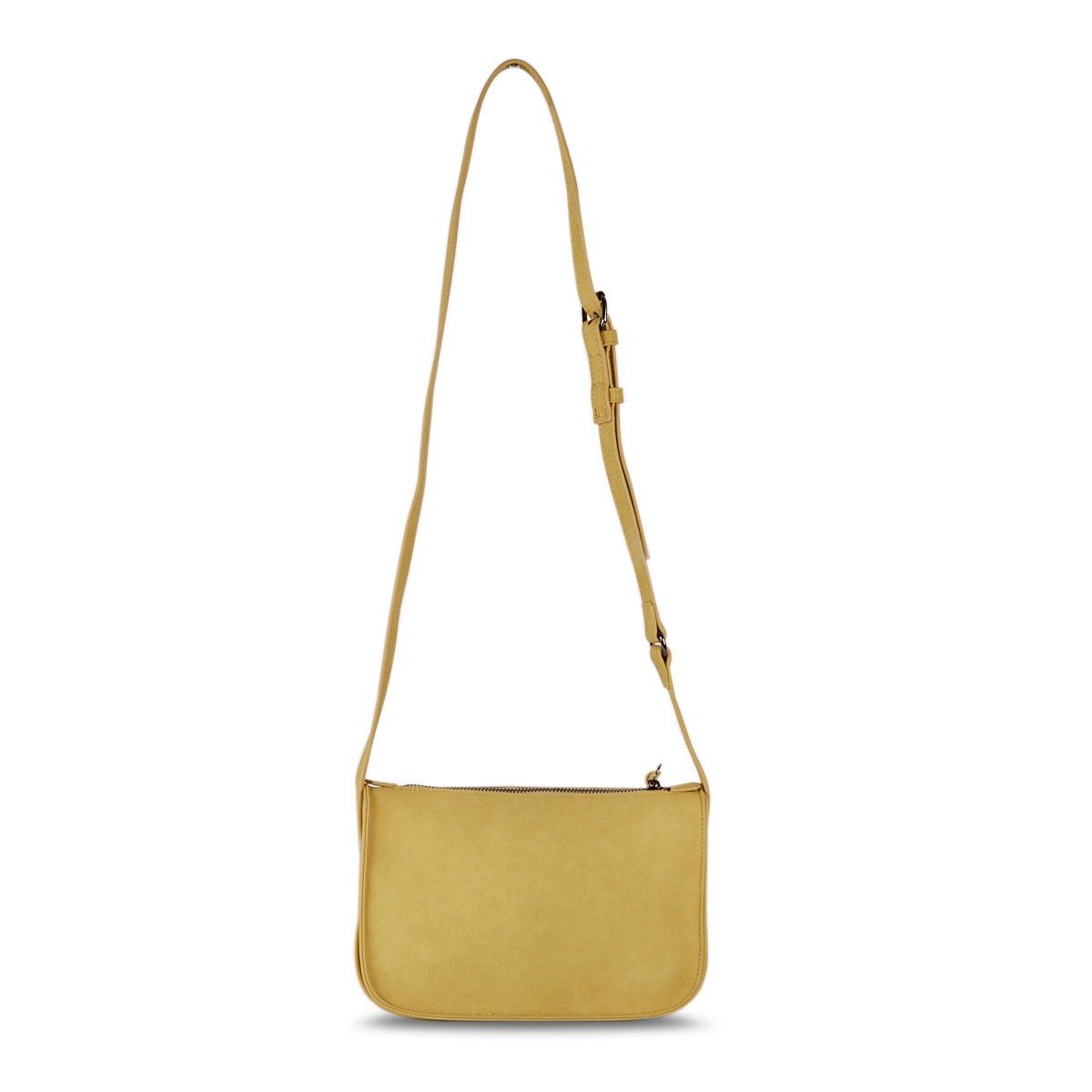 Lds saffron top zip cross body bag