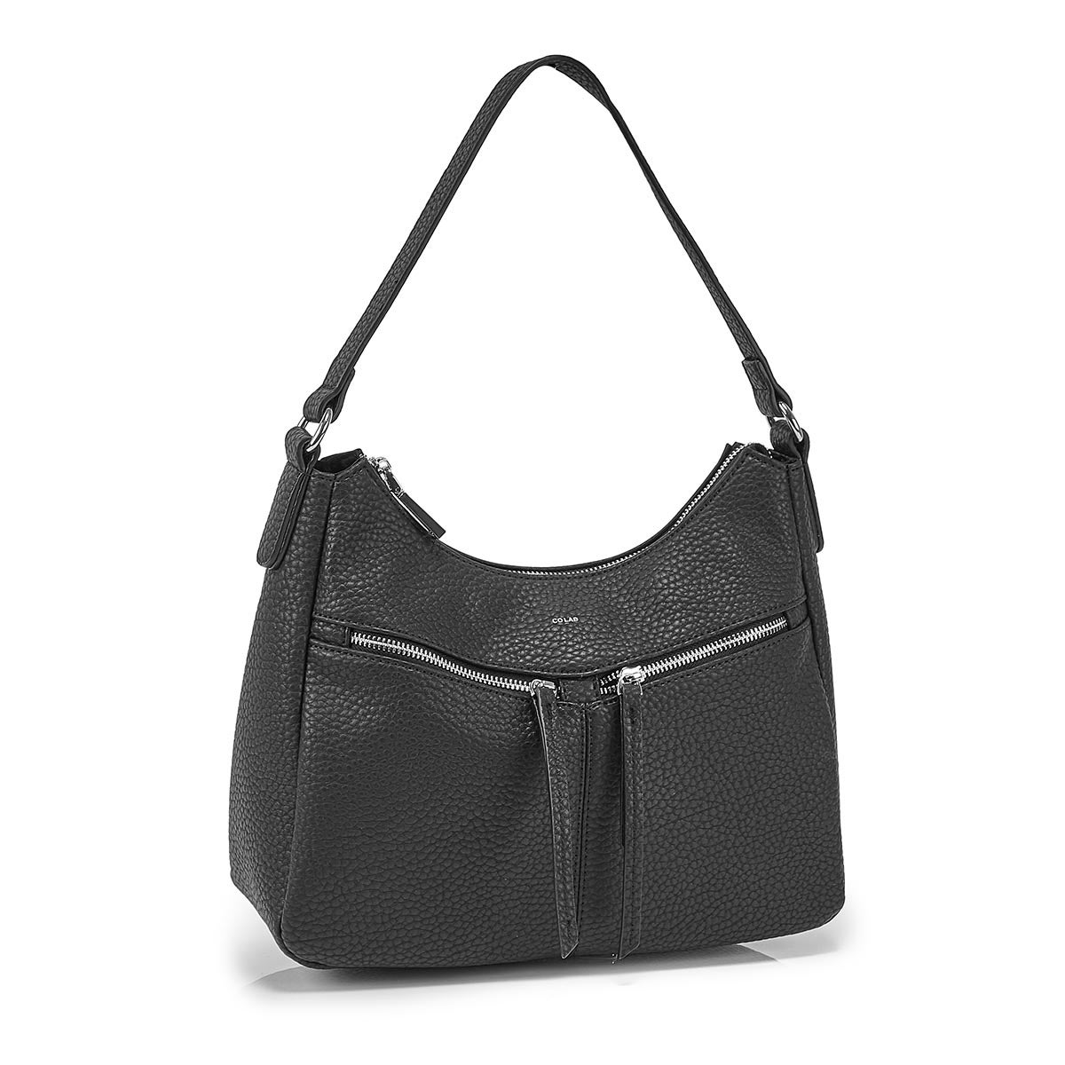 Lds blk crossbody hobo bag
