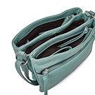 Lds aqua triple crossbody bag