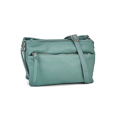 Co-Lab Women's 6400 AQUA triple cross body bag