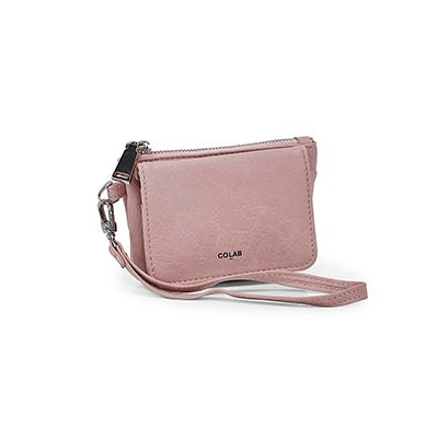 Co-Lab Women's 6406 rose detachable strap wristlets