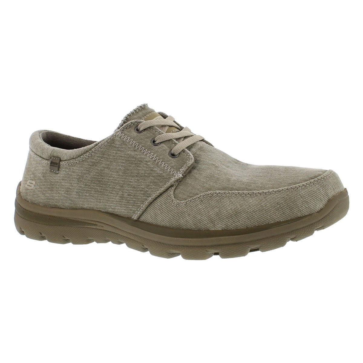 Men's SUPERIOR ELVIN taupe canvas lace up shoes