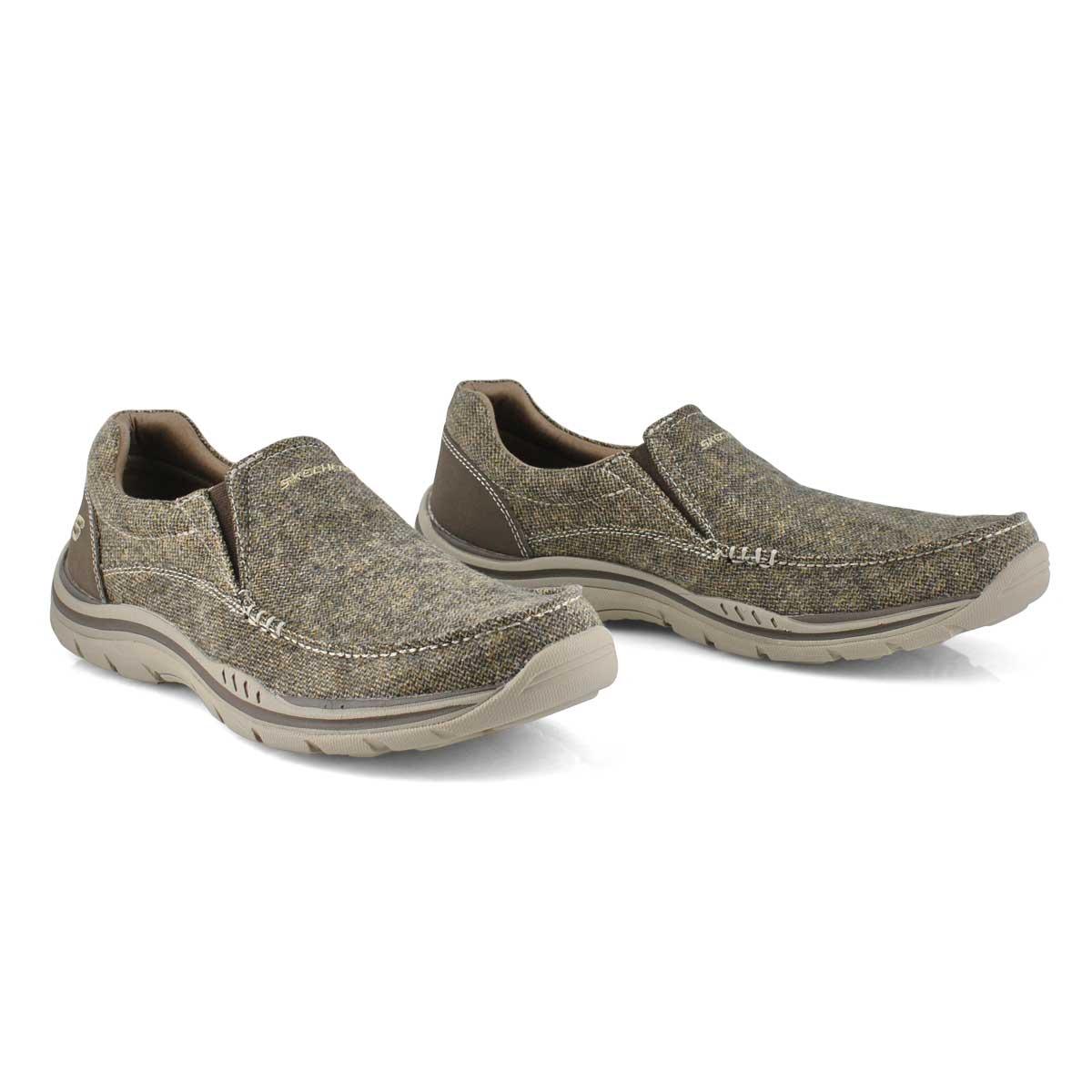 Mns Avillo dk brn slip on casual shoe