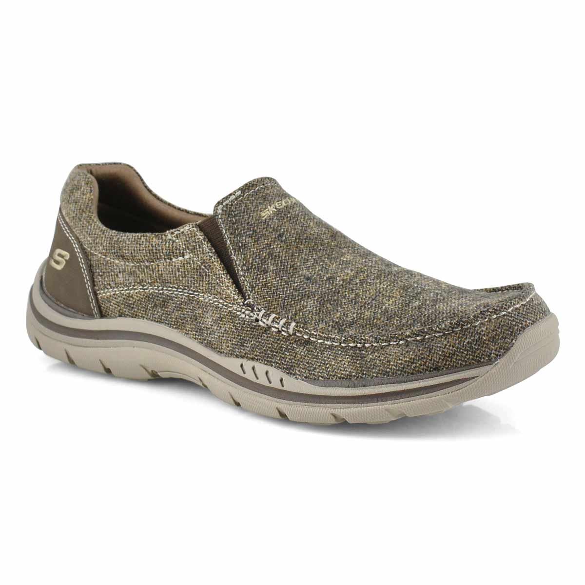 Men's AVILLO dark brown slip on casual shoes