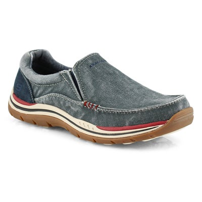Mns Avillo navy slip on casual shoe