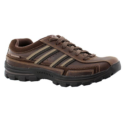 Skechers Men's BRAVER GONSOR brown lace up shoes