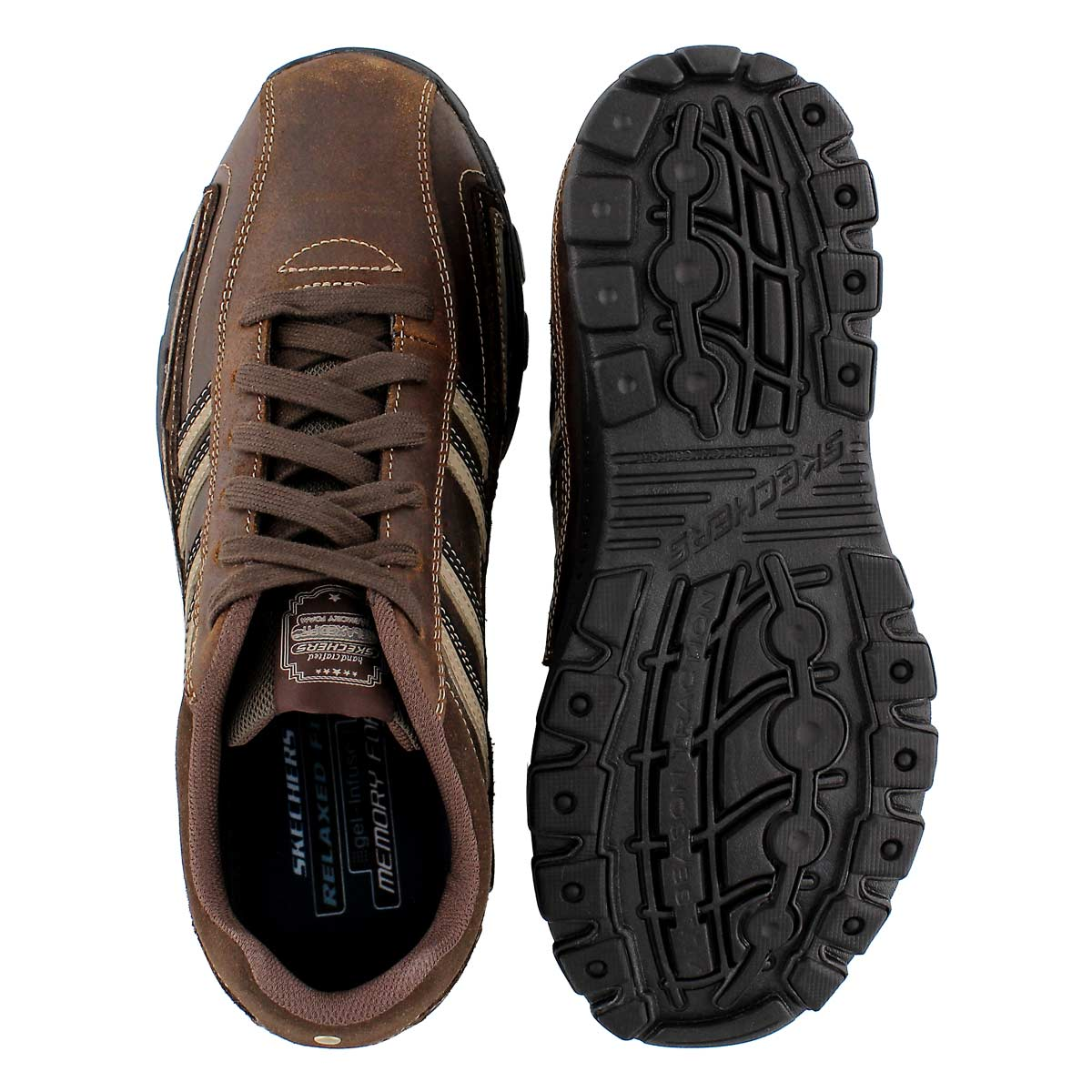 Mns Braver Gonsor brown lace-up shoes