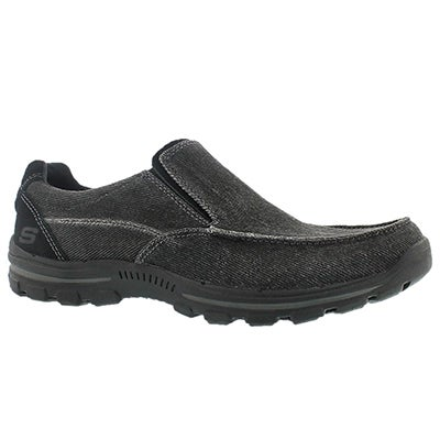 Skechers Men's BRAVER RANDON black slip on casuals