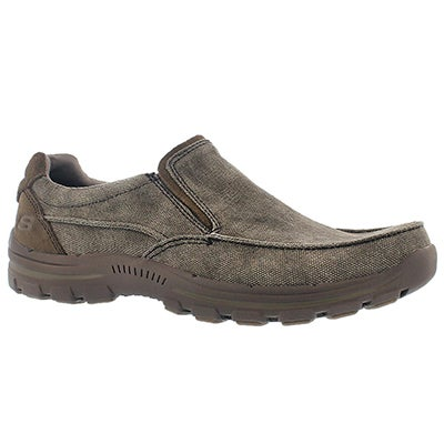 Skechers Men's BRAVER RANDON brown slip on casuals