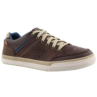 Skechers Men's DIAMONDBACK RENDOL brown lace up sneakers