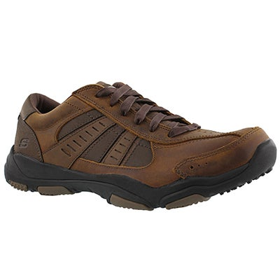 Skechers Men's LARSON NERICK dark brown bike toe sneaker