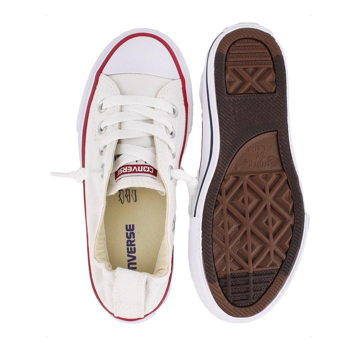 Grls Shoreline white sneaker