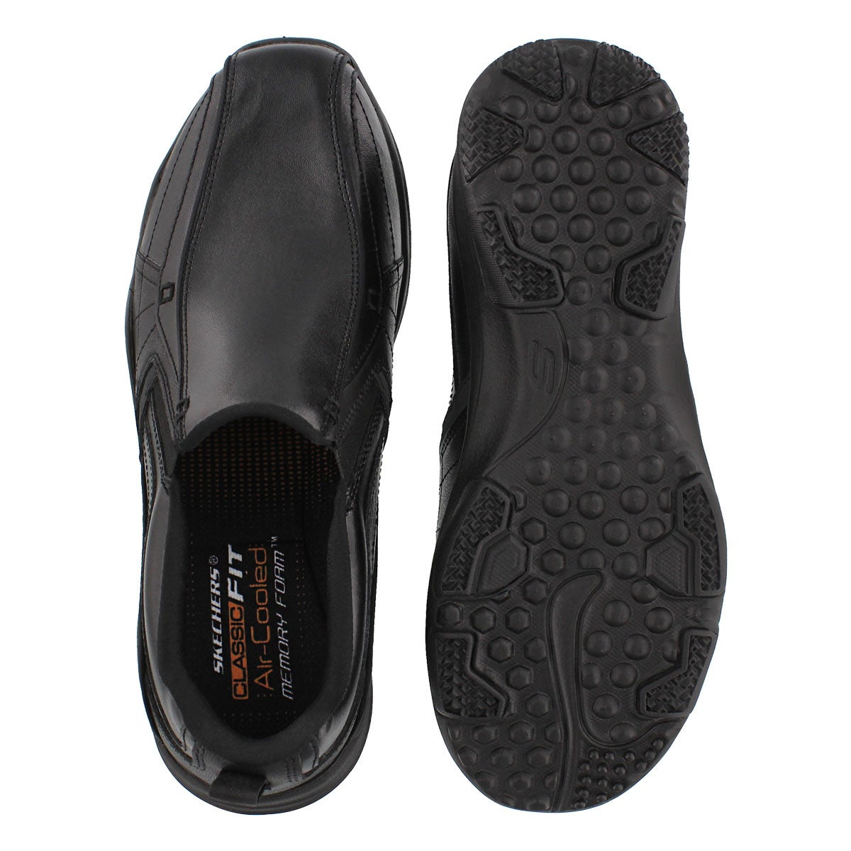 Mns Larson Berto black slip on shoe