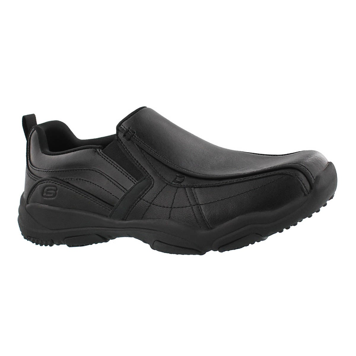 Men's LARSON BERTO black slip on shoes