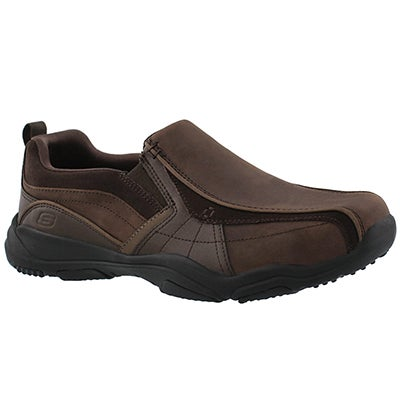 Mns Larson Berto dk brown slip on shoe