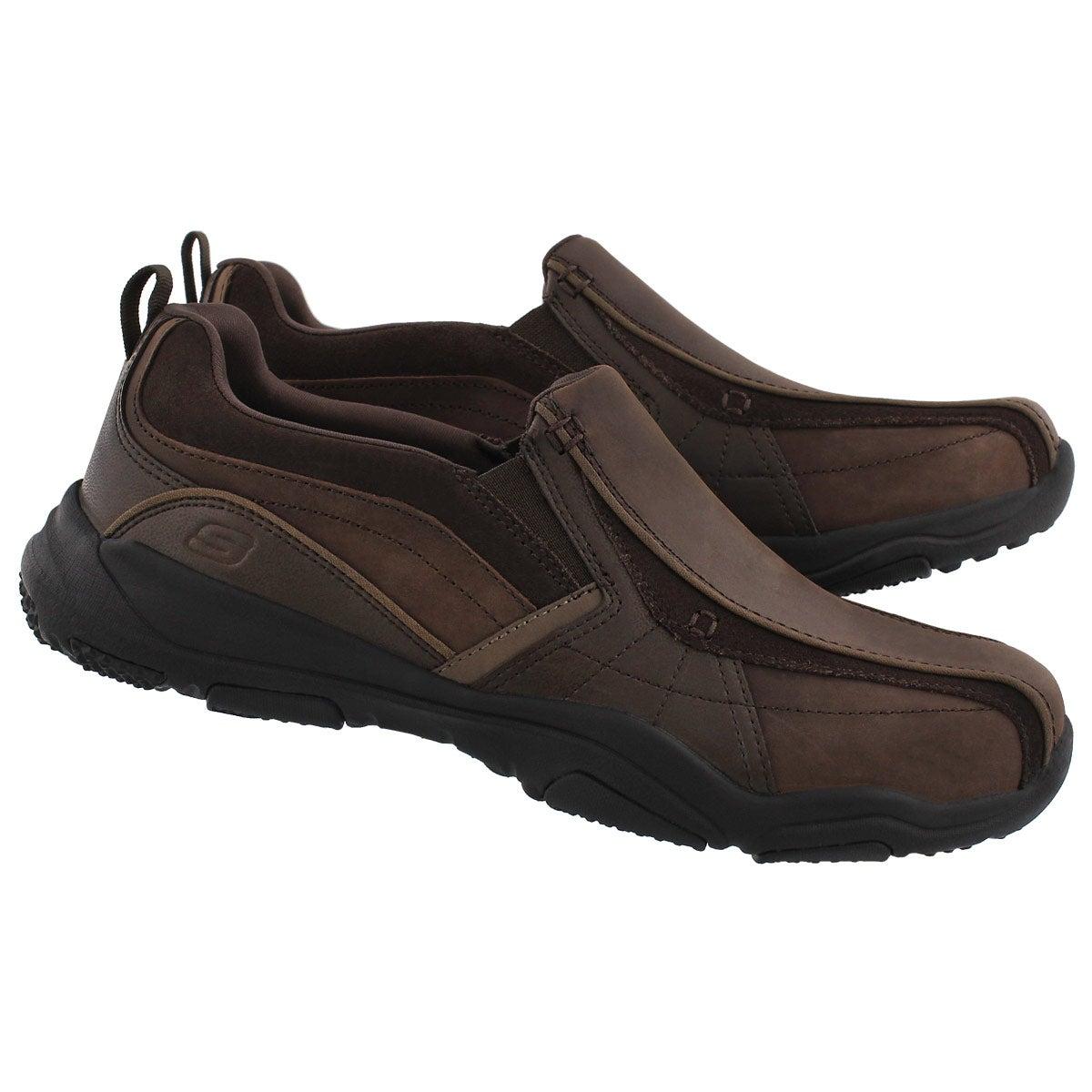 Mns Larson Berto dk brown slip on shoe