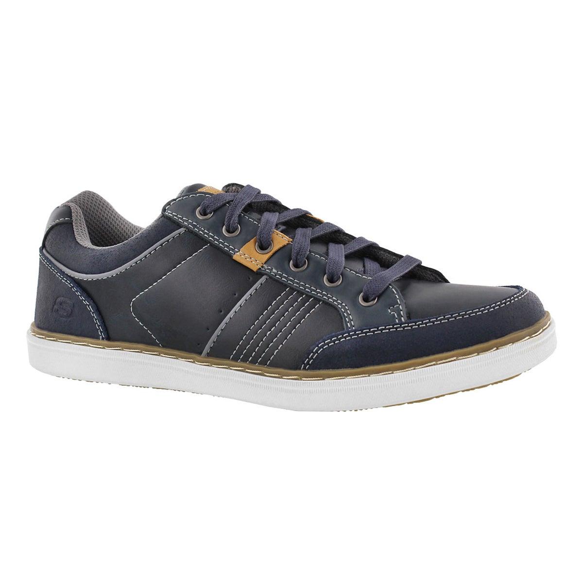 Men's LANSON ROMETO navy lace up sneakers