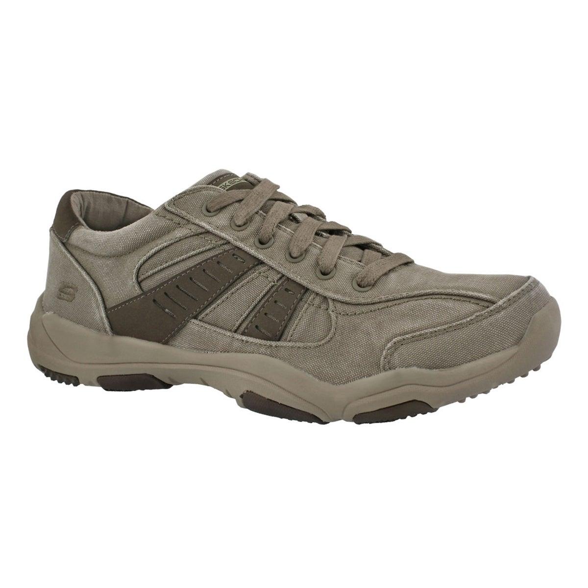 Men's LARSON MASSON taupe slip on sneakers