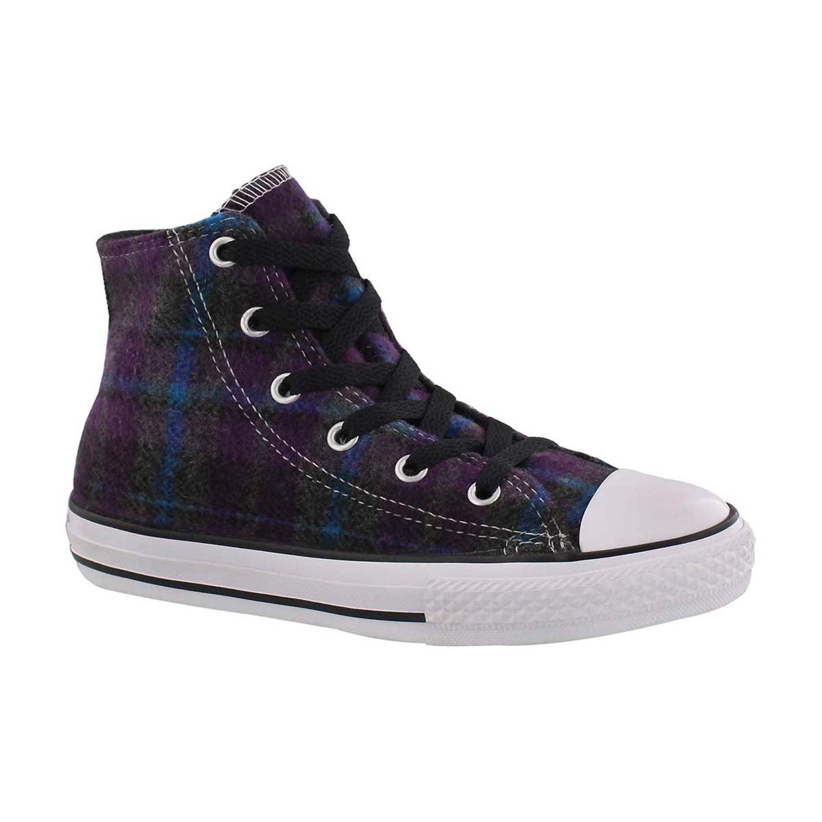 Girls' CT ALLIUM HI TOP purple/cyan sneakers