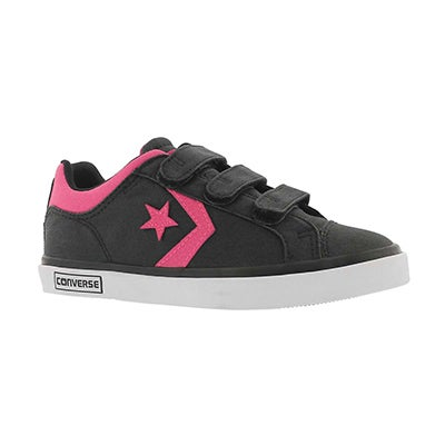 Grls Star Street 3V blk/pnk sneaker