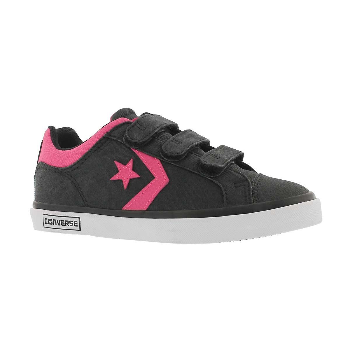 Girls' STAR STREET 3V black/pink sneakers