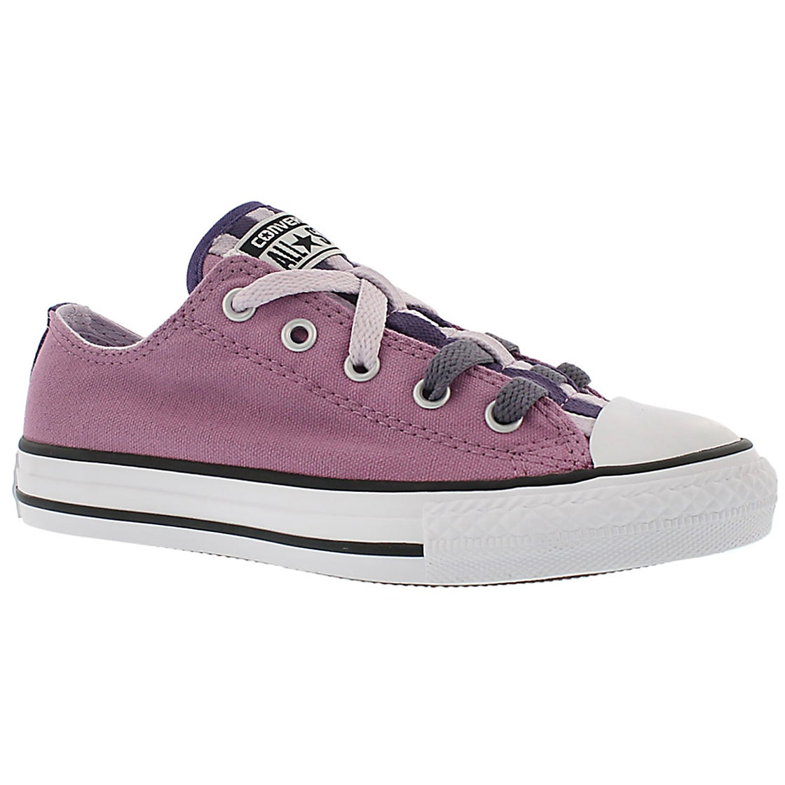 Girls' CT ALL STAR LOOPHOLES CANVAS prple sneakers