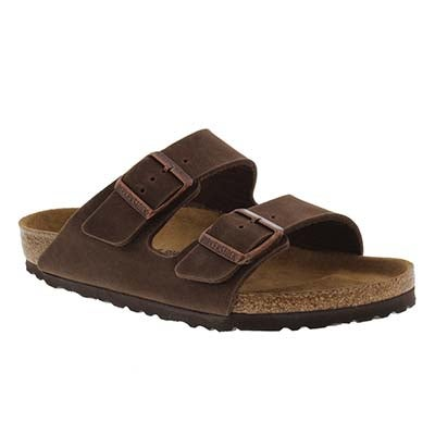 Birkenstock Women's ARIZONA Vegan cocoa slide sandals