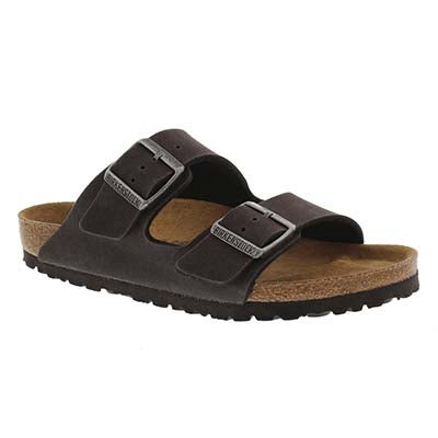 Birkenstock Women's ARIZONA Vegan anthracite sandals