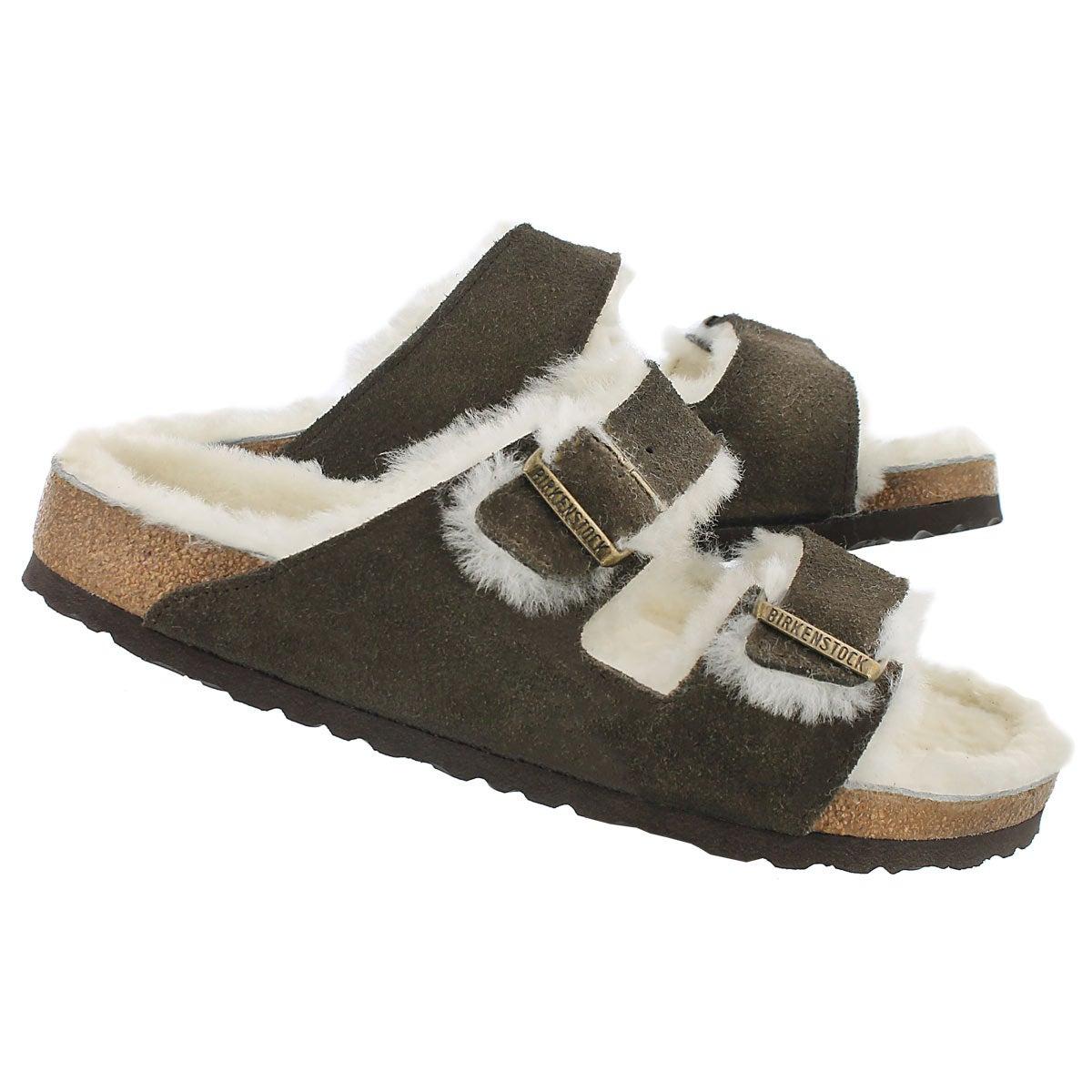 Mns ArizonaShearling mcha 2 strap sandal