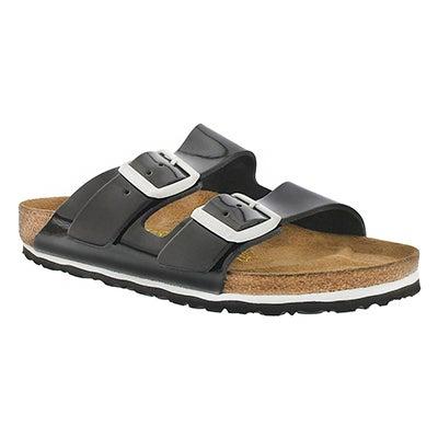 Birkenstock Women's ARIZONA black/white 2 strap sandals