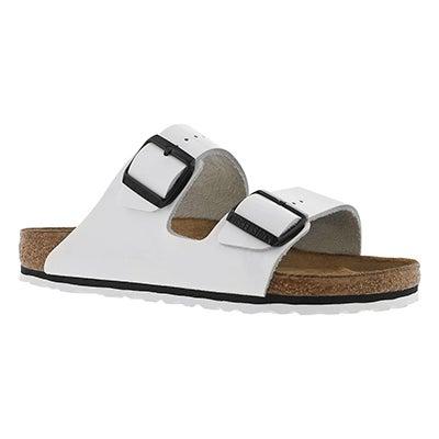 Birkenstock Sandale à 2 courroies blanc/noir ARIZONA, femmes