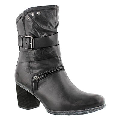 Josef Seibel Women's BRITNEY 06 black leather mid-calf boot