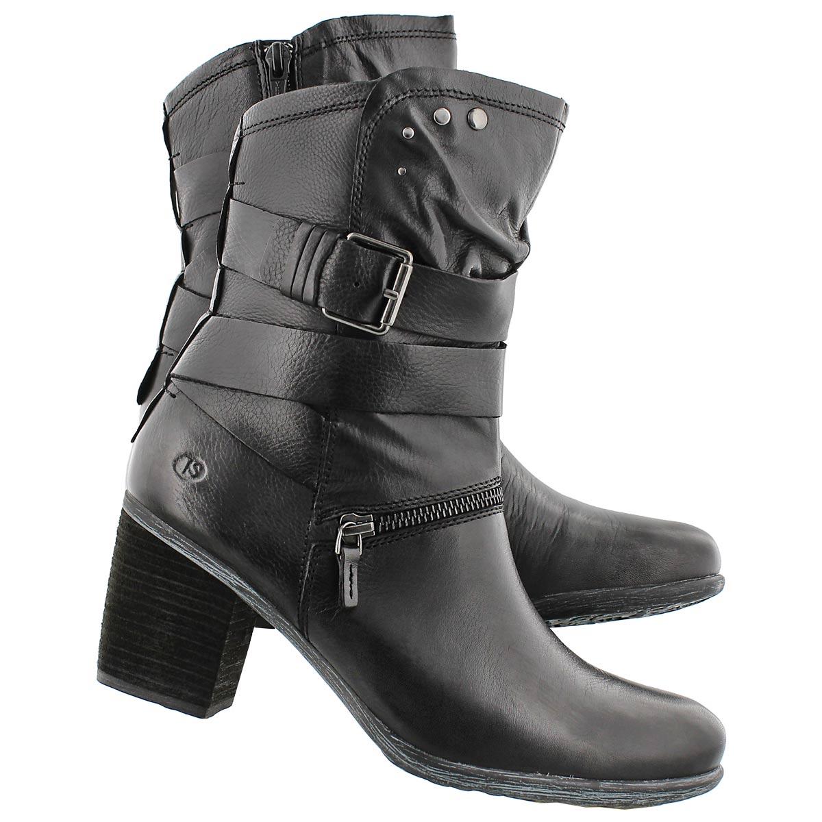 Lds Britney 06 black lthr mid-calf boot